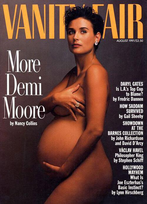 Demi Moore als schwangere Frau