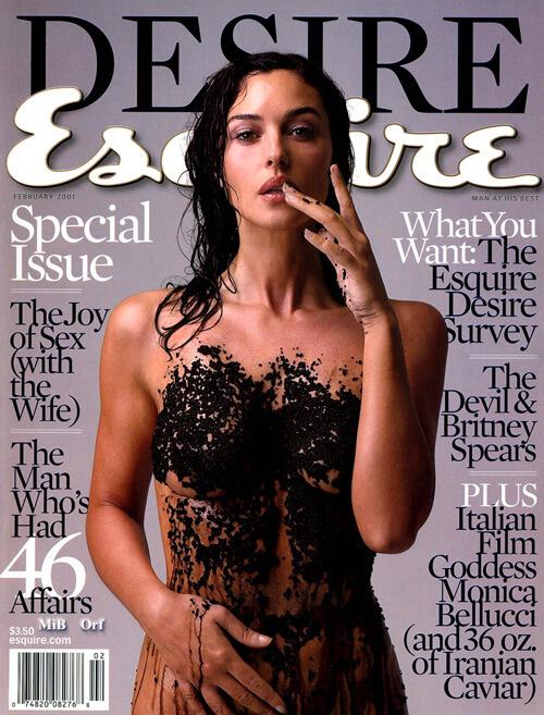 Desire Esquire mit Monica Bellucci vom Februar 2001
