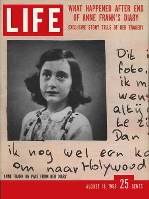 Anne Frank Life 18 August 1958