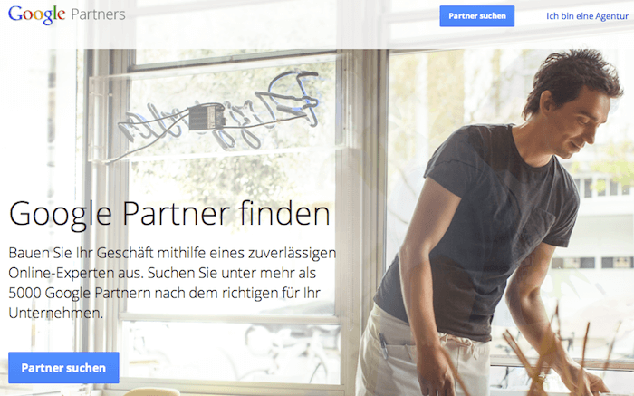 Google Partners Screenshot
