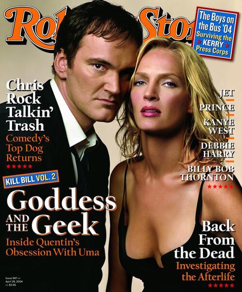 Rolling Stone - Quentin Terrentino und Uma Thurman vom April 2004