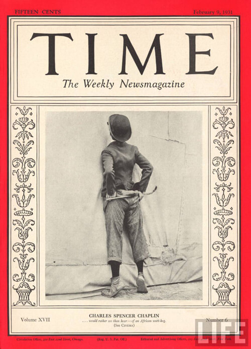 Charlie Chaplin Time Cover