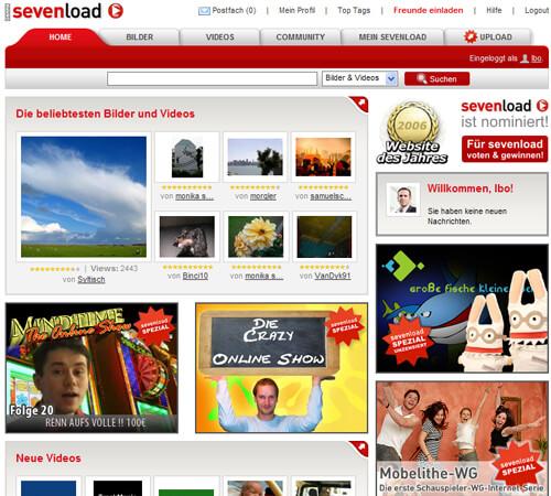 sevenload gamma heute Screenshot