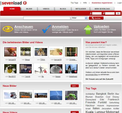 sevenload alpha Screenshot